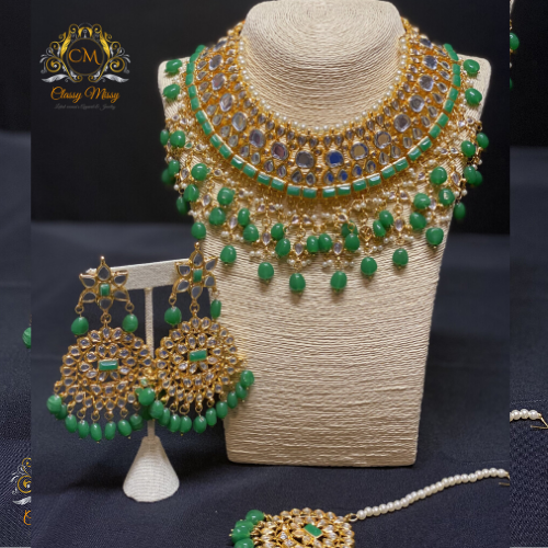 Kundan necklace set - Classy Missy by Gur