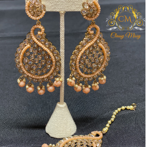Earrings with maang tikka - Classy Missy by Gur