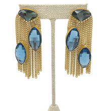 Load image into Gallery viewer, Stone Earrings with hanging strings
