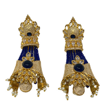 Load image into Gallery viewer, Kundan Meenakari beaded long earrings