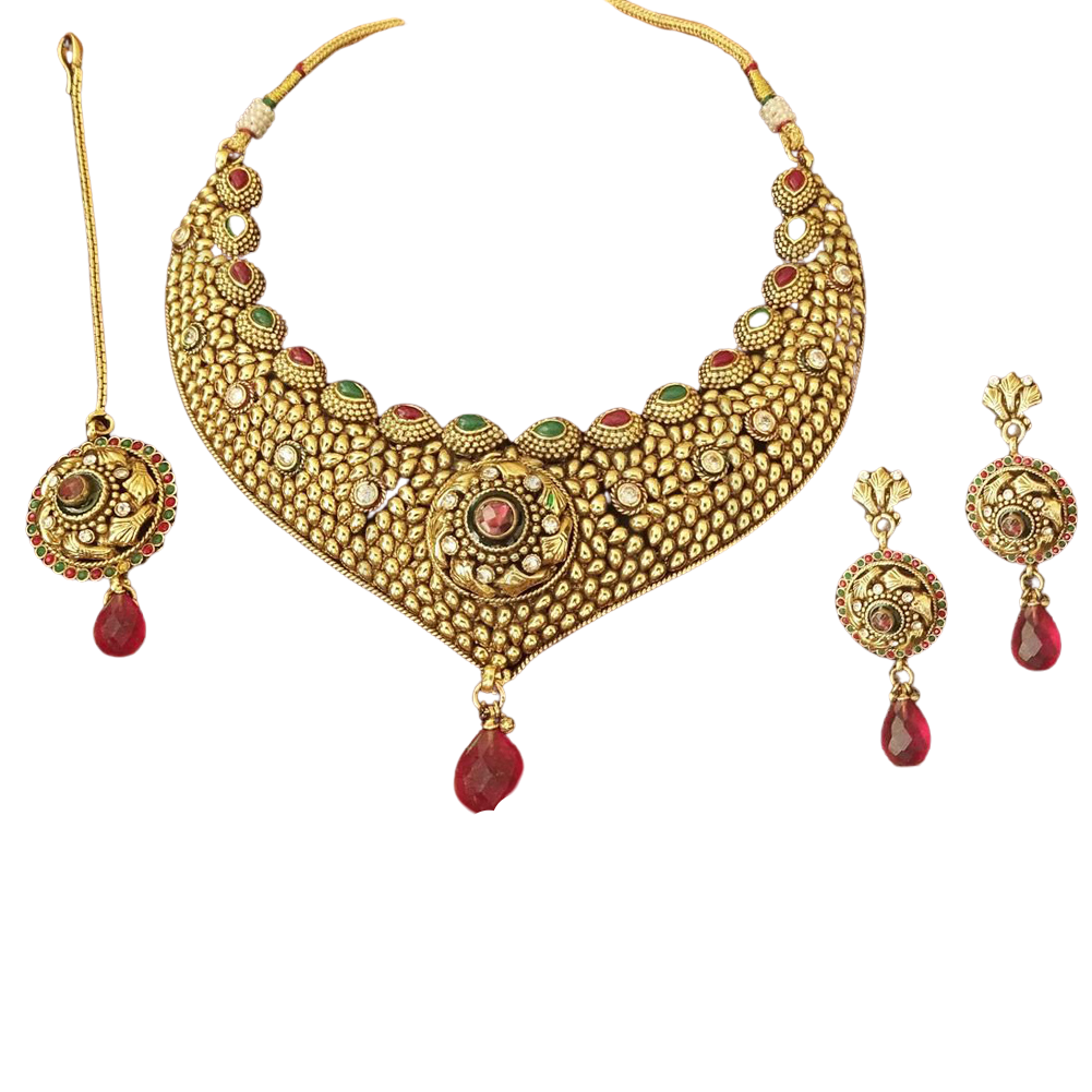 Traditional wedding necklace set
