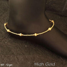 Load image into Gallery viewer, Golden Pearl delicate antique Anklet