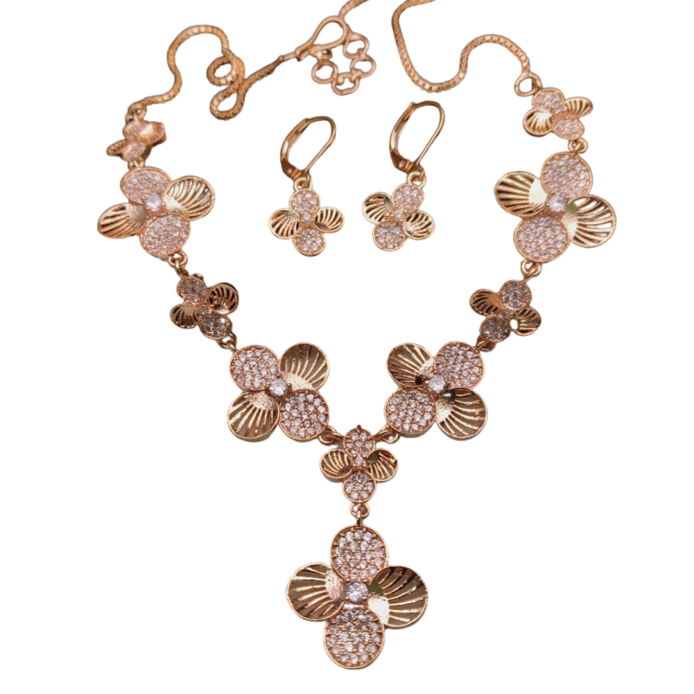 Gold Plated Necklace Jewelry Set
