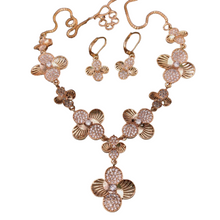 Load image into Gallery viewer, Gold Plated Necklace Jewelry Set