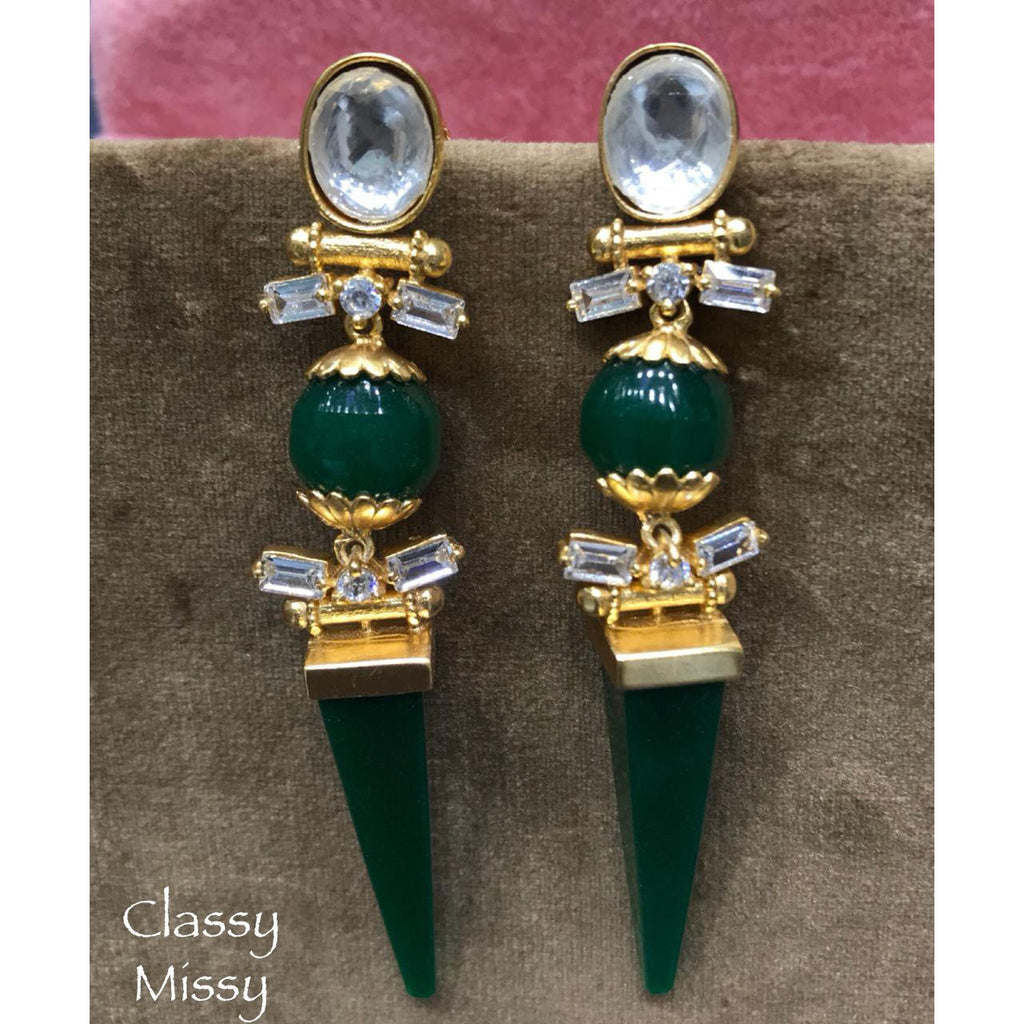 Green earrings - Classy Missy by Gur