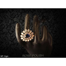 Load image into Gallery viewer, Crystal stone paan Diamond Ad Finger Ring - Classy Missy by Gur