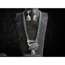 Load image into Gallery viewer, Peacock Base Long Necklace Set - Classy Missy by Gur