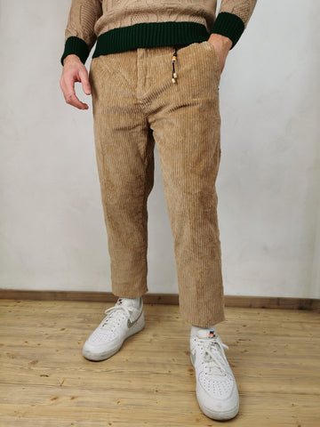 PANTALONE IN VELLUTO CAMMELLO - TWINS
