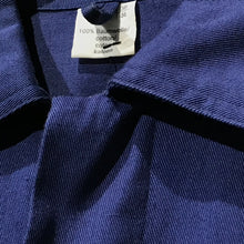 Load image into Gallery viewer, Navy blue chore coat. Cavalry twill 100% cotton.