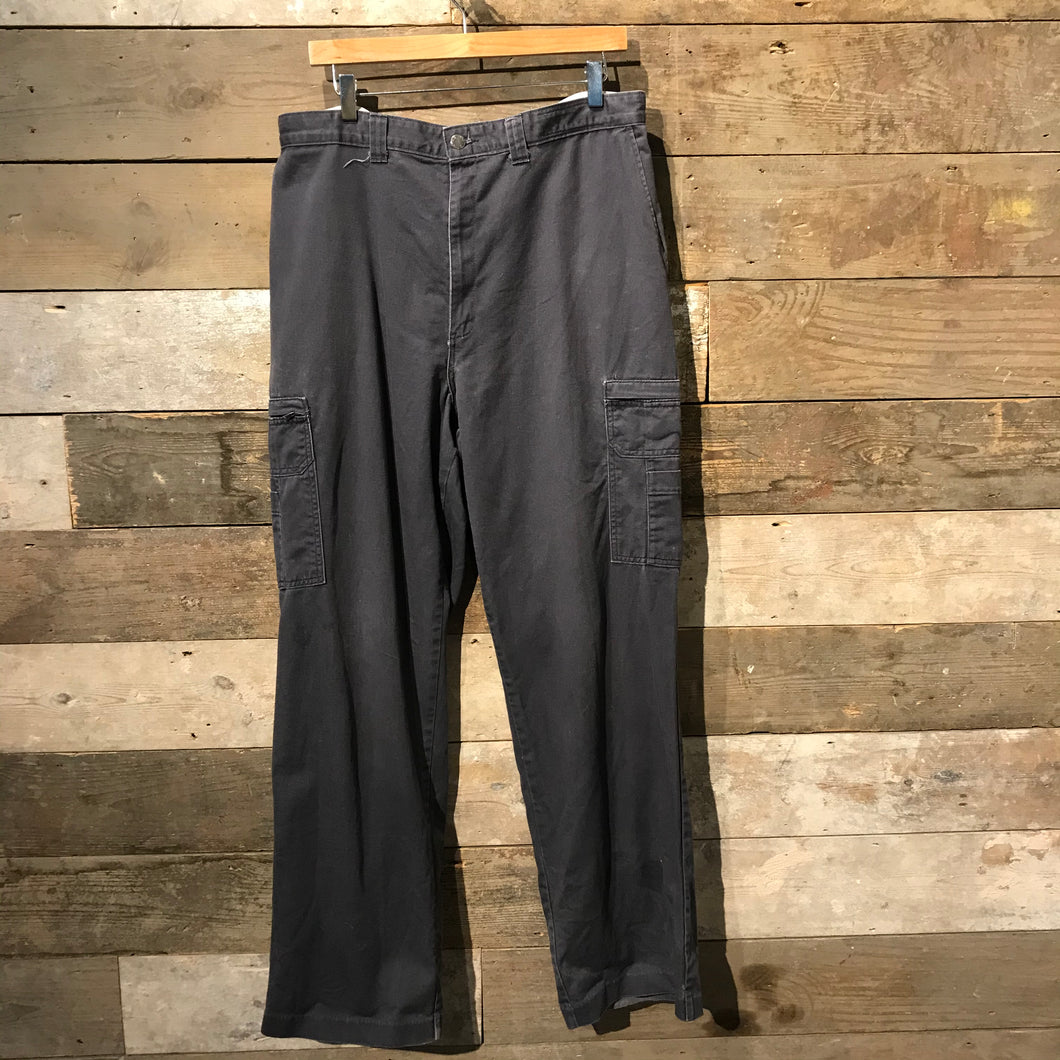 Grey Dickies Trousers with Cargo Pockets W38 L34