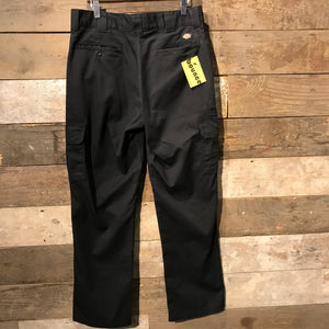 Black Dickies Regular Straight Fit Trousers with Cargo Pockets W34 L32