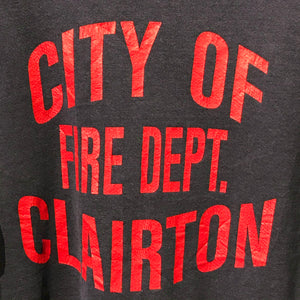 Vintage Sweatshirt. City of Clairton Fire Department. Lee Heavyweight. Size L