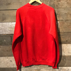 Red Vintage Sweatshirt. Saint Cecilia Academy. Made in USA. Size XL