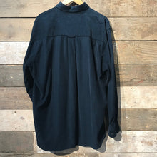 Load image into Gallery viewer, Navy Blue Corduroy Shirt. Size XL