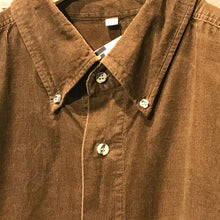 Load image into Gallery viewer, Dark Brown Corduroy Shirt. Size XL