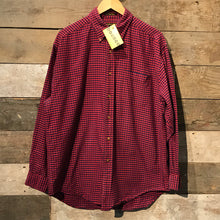 Load image into Gallery viewer, Red and Blue Thick Check Cotton Shirt Size L
