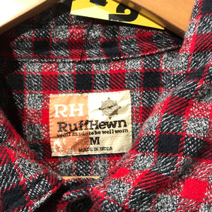 Red and Black Check Flannel Shirt. Size M