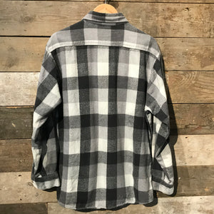 Black and Grey Check Flannel Shirt. Size XL