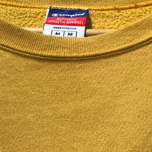Load image into Gallery viewer, Yellow Vintage Champion Sweatshirt with grey Champion Logo in M