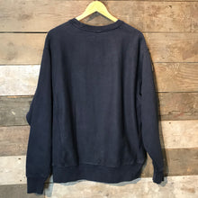 Load image into Gallery viewer, Vintage Champion Reverse Weave Sweatshirt with Large Flock Logo in Black. Size L.