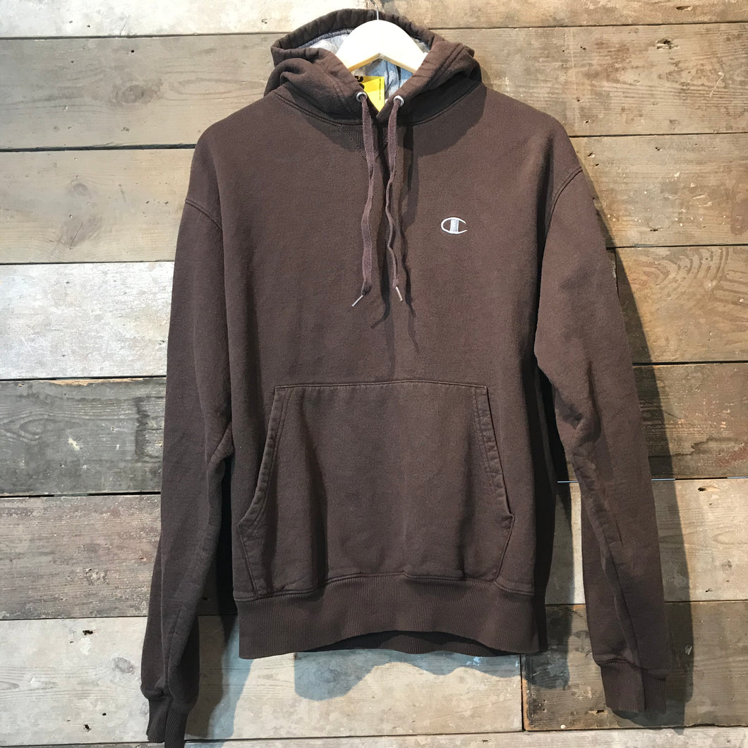 Brown Vintage Champion Hoodie in M