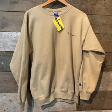Load image into Gallery viewer, Great Beige Vintage Champion Sweatshirt with Champion script and C logo. Size M
