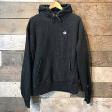 Load image into Gallery viewer, Vintage Champion Reverse Weave Hoodie in Black. Size XL.