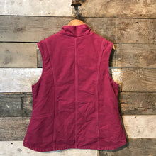 Load image into Gallery viewer, Pink Carhartt Workwear Gilet in Pink Canvas with a Fleece Lining, size L