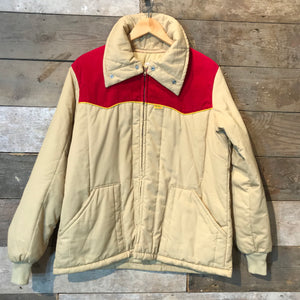 Beige Kent Feeds Workwear Quilted Jacket by Nomad Size L.