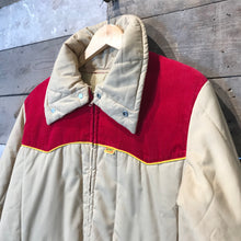Load image into Gallery viewer, Beige Kent Feeds Workwear Quilted Jacket by Nomad Size L.
