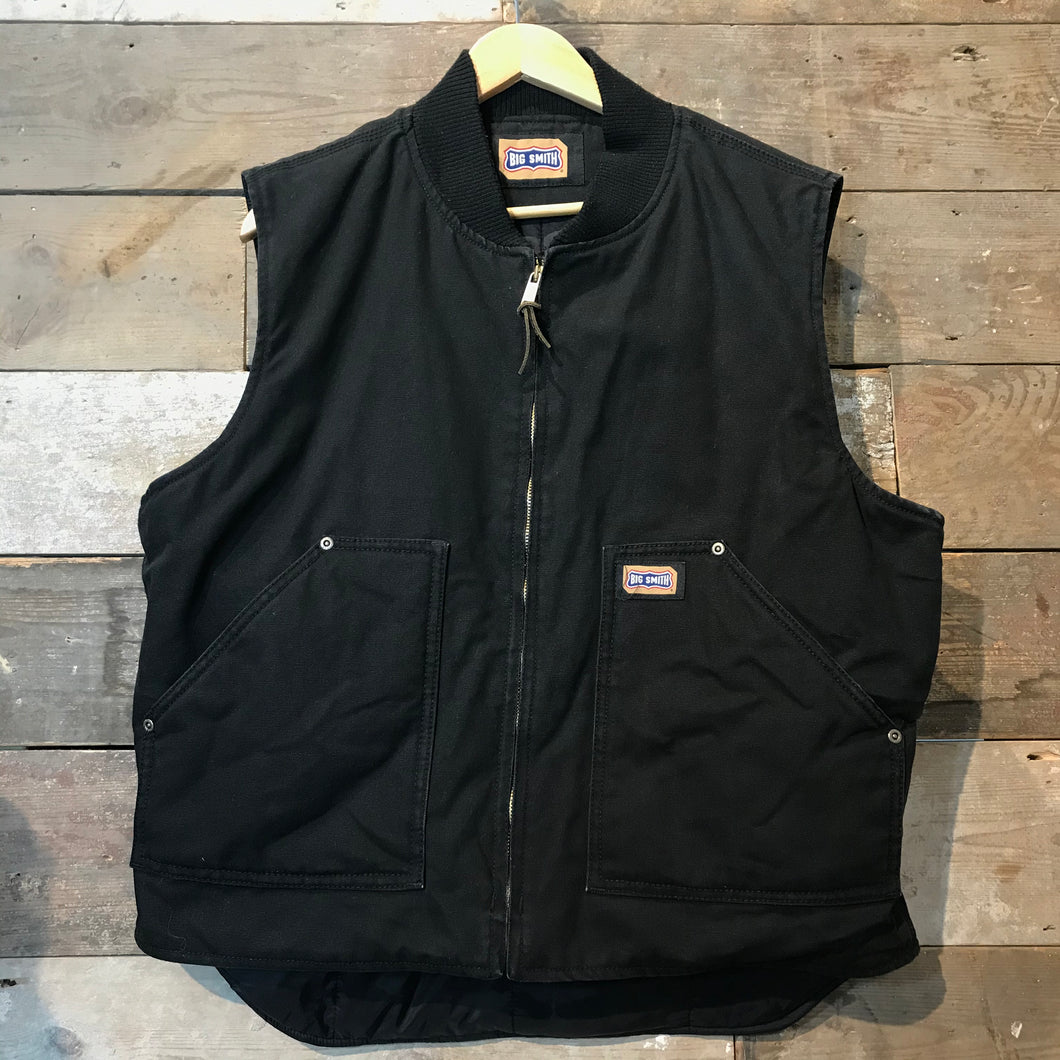 Big Smith Black Heavyweight Duck Thinsulate Workwear Gilet Size L