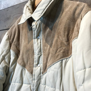 Vintage Beige Quilted Jacket by Trail-Gear Size M