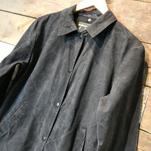 Load image into Gallery viewer, Vintage Saddlesmith Outfitters Waxed Cotton Western Cowboy Duster. Size XS
