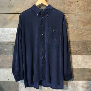 Navy Blue Corduroy Shirt by Stone Henge. Size XL