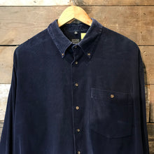 Load image into Gallery viewer, Navy Blue Corduroy Shirt by Stone Henge. Size XL