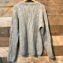 Load image into Gallery viewer, Light Grey Aran Jumper MacHope Original Size M