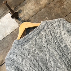 Light Grey Aran Jumper MacHope Original Size M