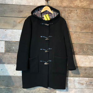 London Tradition Black Woollen Duffle Coat Made in England Size M