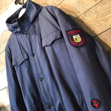 Load image into Gallery viewer, Vintage Navy Blue Fleece Lined German Parka With Fire Brigade Patches Size XXL