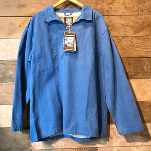 Mousqueton Smock in Blue Canvas. Size 3XL