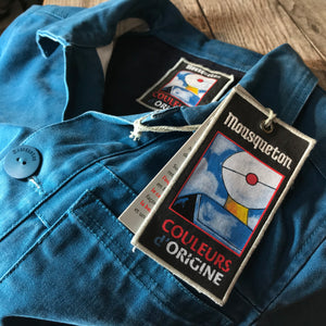Mousqueton Classic Style French Chore jacket in Blue Canvas. Size S