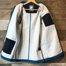 Load image into Gallery viewer, Mousqueton Classic Style French Chore jacket in Blue Canvas. Size S