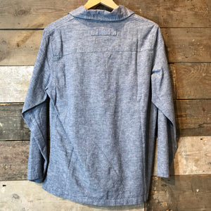 Mousqueton Smock in Grey-Blue Chambray Denim.