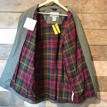 Load image into Gallery viewer, LL BEAN Khaki Flannel Lined Canvas Button Up Coat Size L Reg