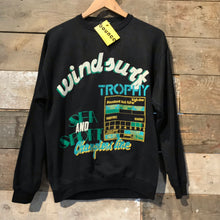 "Load image into Gallery viewer, Incredible Vintage Black ""Windsurf Trophy"" Sweatshirt. Size M"