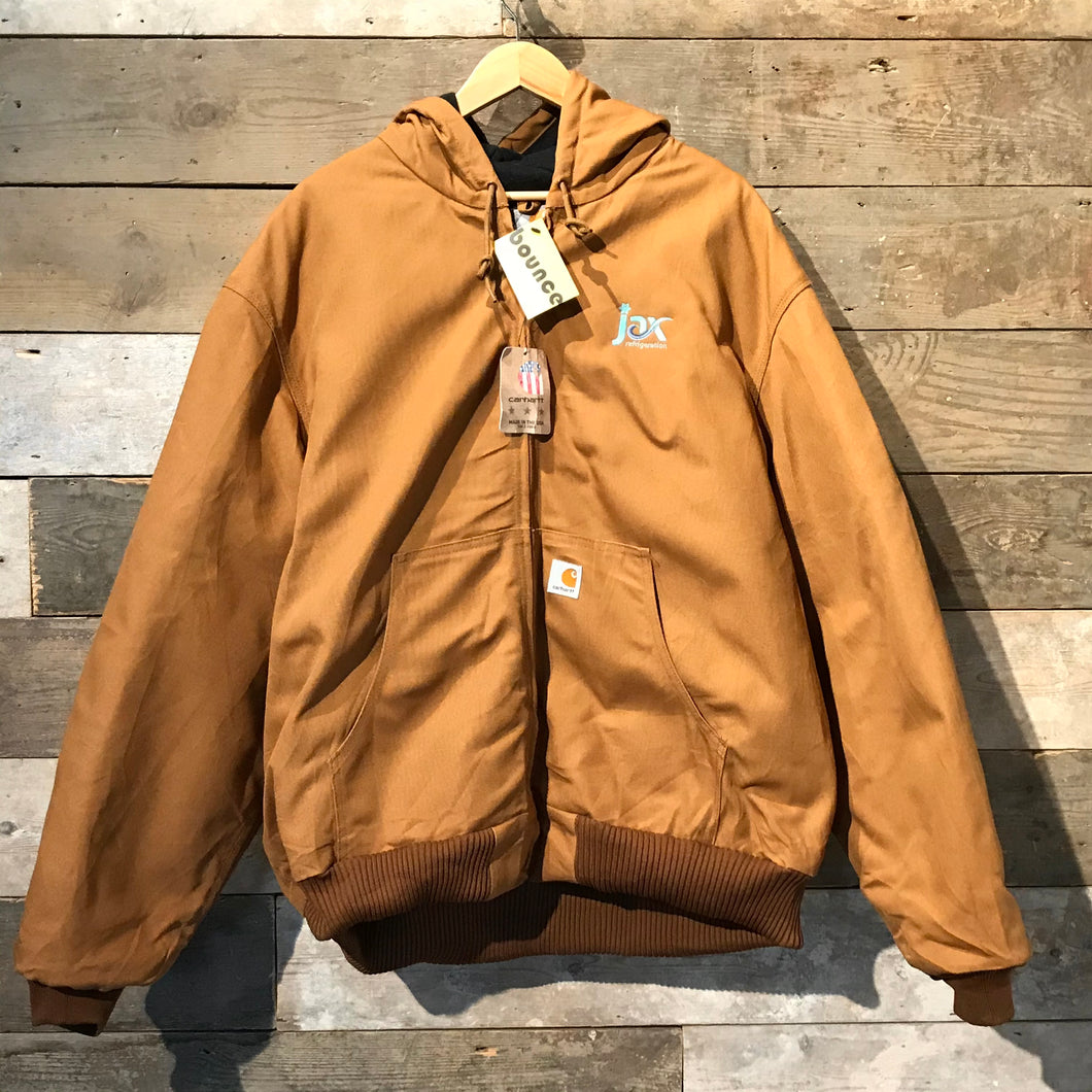 Brand new hooded Carhartt Active workwear jacket. Hamilton brown canvas.