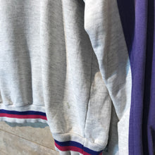 Load image into Gallery viewer, Vintage C&A Rodeo Quarter Zip Sweatshirt in Grey and Purple Size M