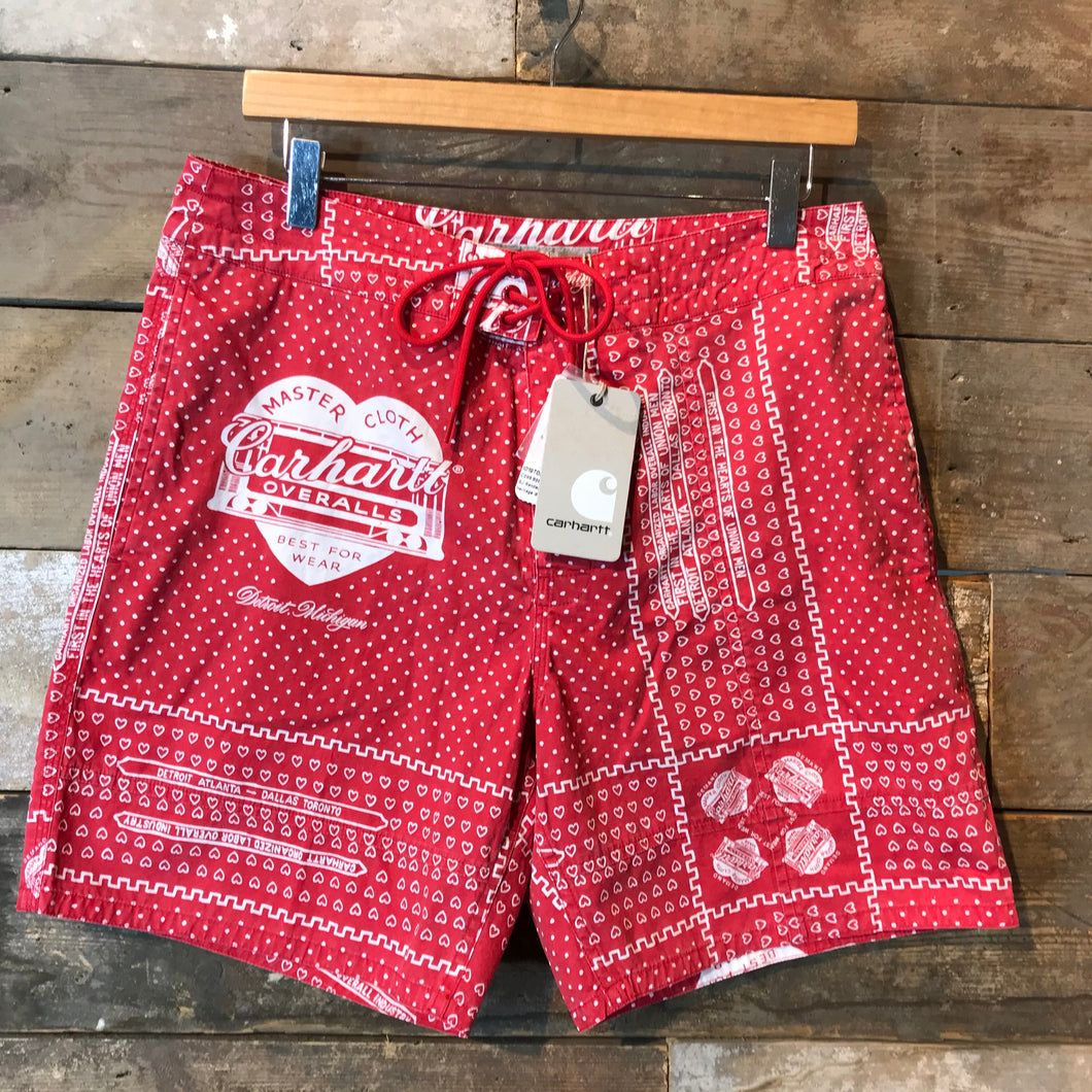 New With Tags Carhartt WIP 25 Years Slam Jam Bandana Float Swim Trunks. Size M