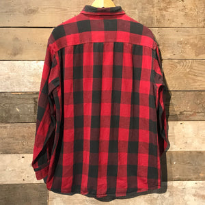 Red and Black Check Flannel Shirt. Size L TALL