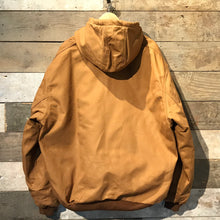 Load image into Gallery viewer, Brand new hooded Carhartt Active workwear jacket. Hamilton brown canvas.